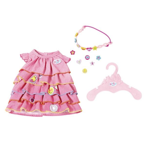 Baby Born Sommerkleid Set mit Pins, rot
