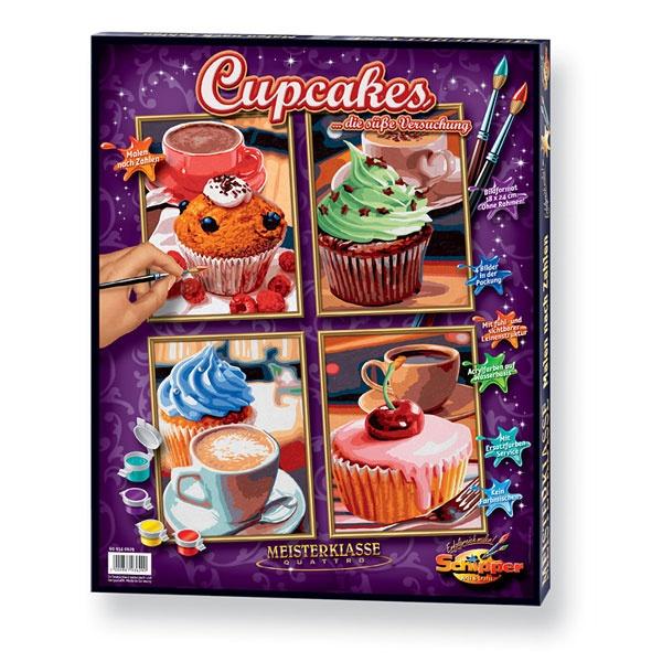 Schipper Malen nach zahlen Quattro Cupcakes
