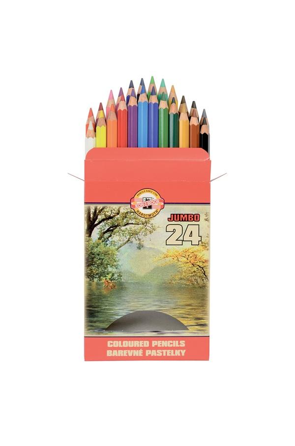 KOH-I-NOOR Farbstifte Jumbo 24 Farbstifte