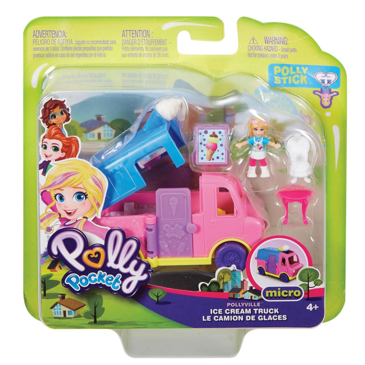 Polly Pocket Pollyville Eiswagen