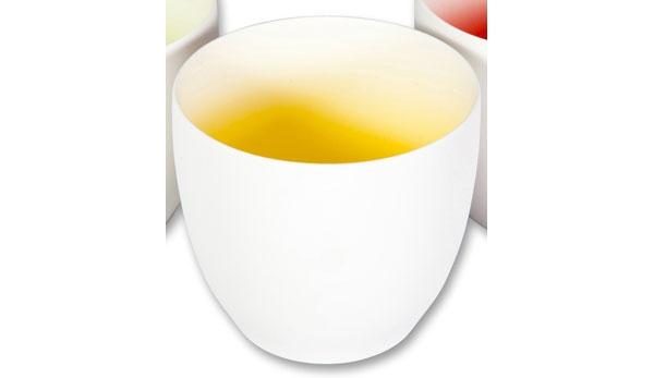 Teelichthalter mit Farbverlauf 10 cm gelb