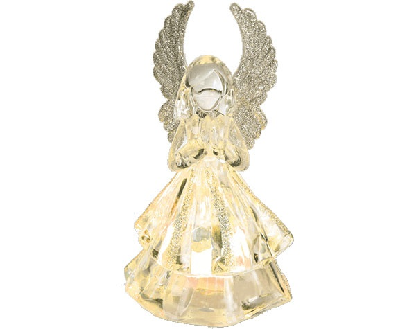 Engel Acryl mit LED-Beleuchtung 18 cm