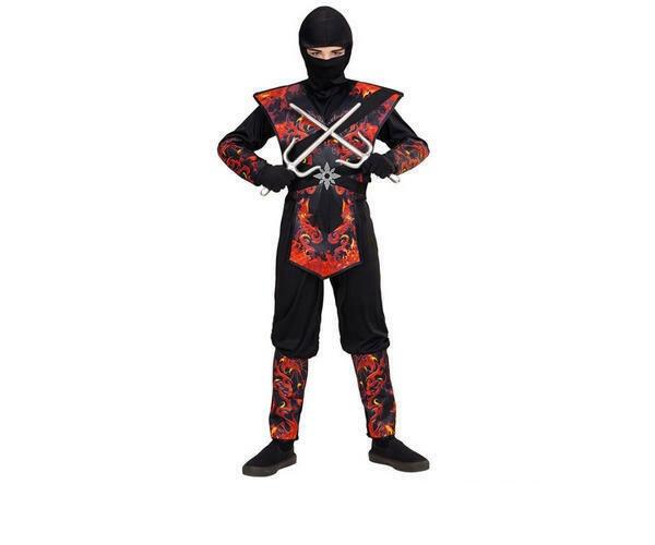Kostüm Drachen Ninja in Flammen Gr. 158