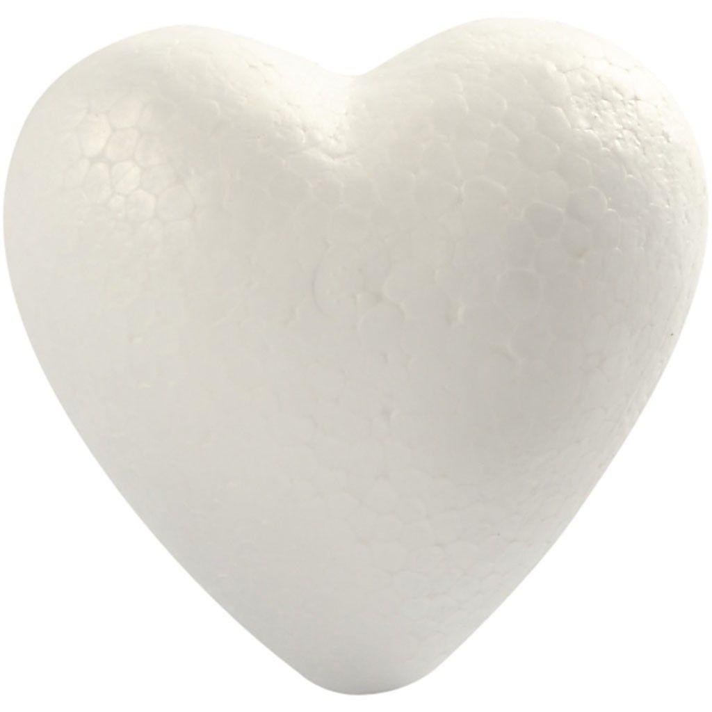 Styropor-Herzen  8 cm weiß 5 Stück