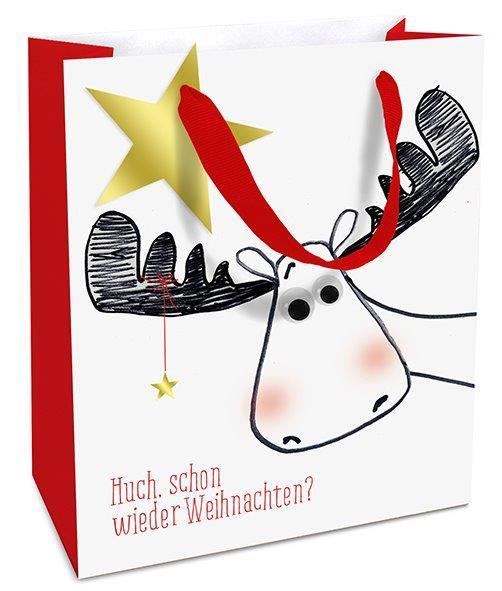 Geschenktasche mittel Huch, schon wieder Weihnachten?