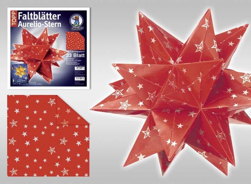 Faltblätter Aurelio-Stern Silver-Stars