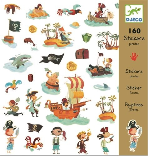 Djeco Bastelset 160 Sticker Piraten
