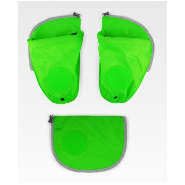 Ergobag Pack, Cubo&Cubo Light Seitentaschen Zipset grün 2020