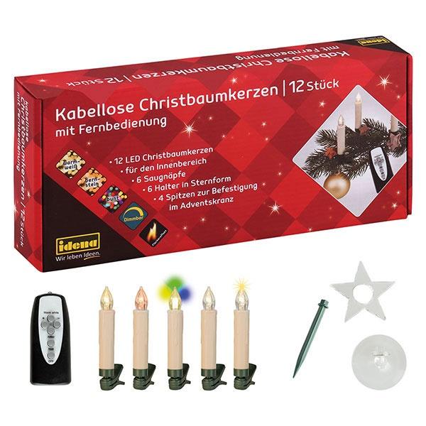 Christbaumkerzen LED 12 Stck. kabellos