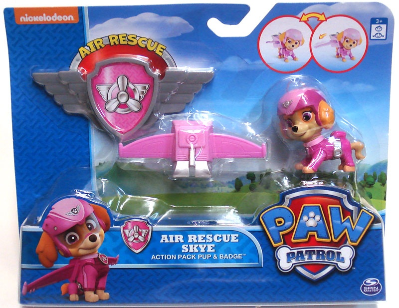 Paw Patrol Air Rescue Skye Action Pack Pup & Badge