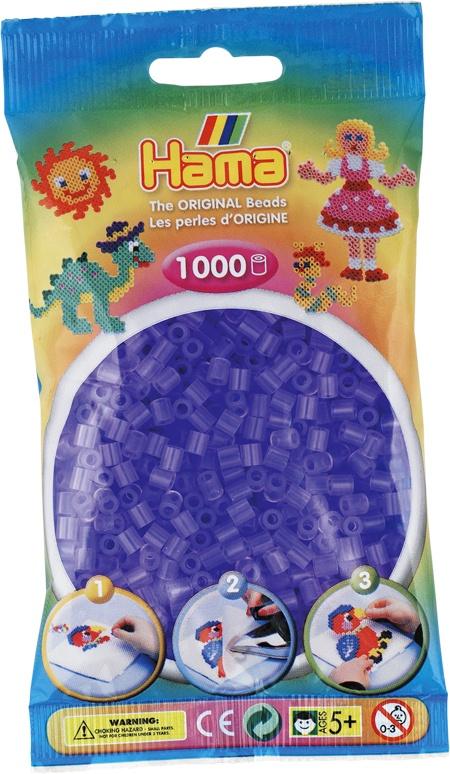 Hama Bügelperlen 1000 Stück  transparent-flieder