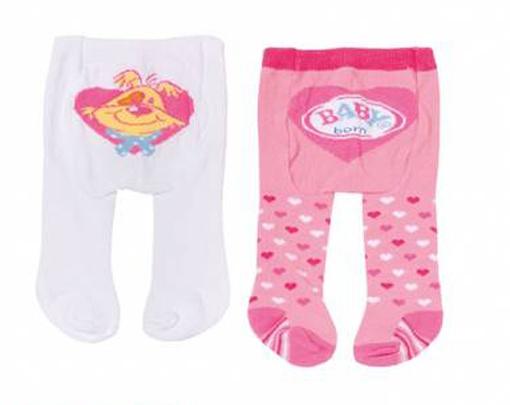 Zapf Creation Baby born Strumpfhosen 2er pink/weiß