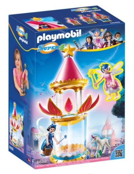 Playmobil 6688 Super4 Blütenturm mit Feen & Twinkle Spieluhr