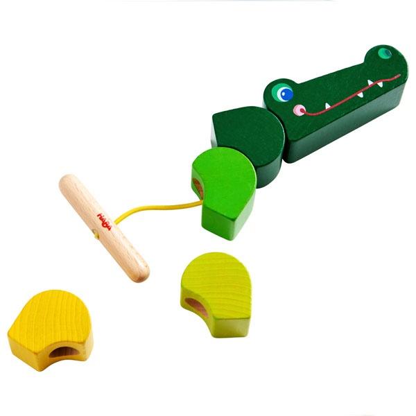 Haba Fädelspiel Kroko