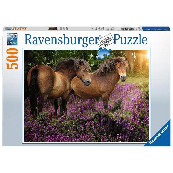 Puzzle Ponys in der Heide 500 Teile von Ravensburger