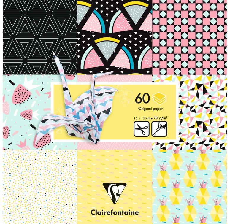 Clairefontaine Origami Papier 15 x 15 cm Früchte