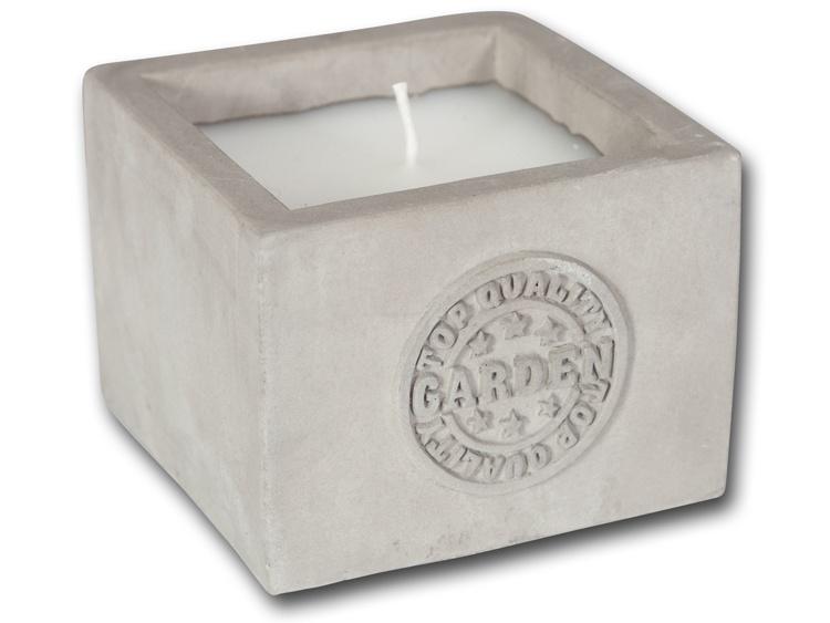 Kerzen in Keramik-Kerzentopf grau 8,3 cm