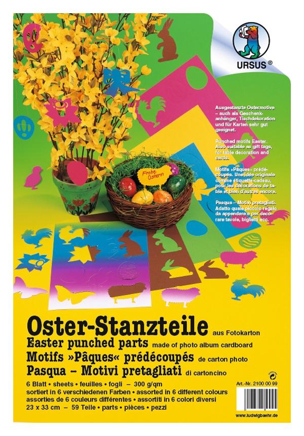 Oster-Stanzteile Fotokt. 23x33cm,6Bl., 59T.sort.
