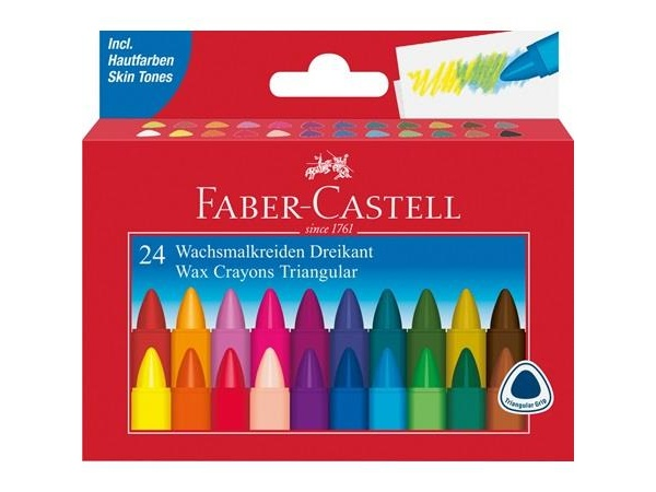 Faber Castell Wachsmalkreiden dreikant 24er