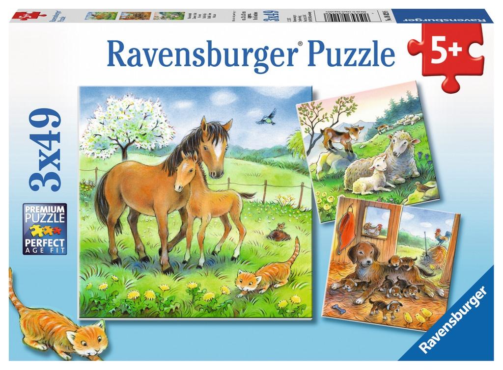 Ravensburger Puzzle Kuschelzeit 3 x 49 Teile