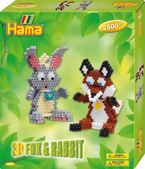 Hama Bügelperlen-Set 3D Fuchs und Hase