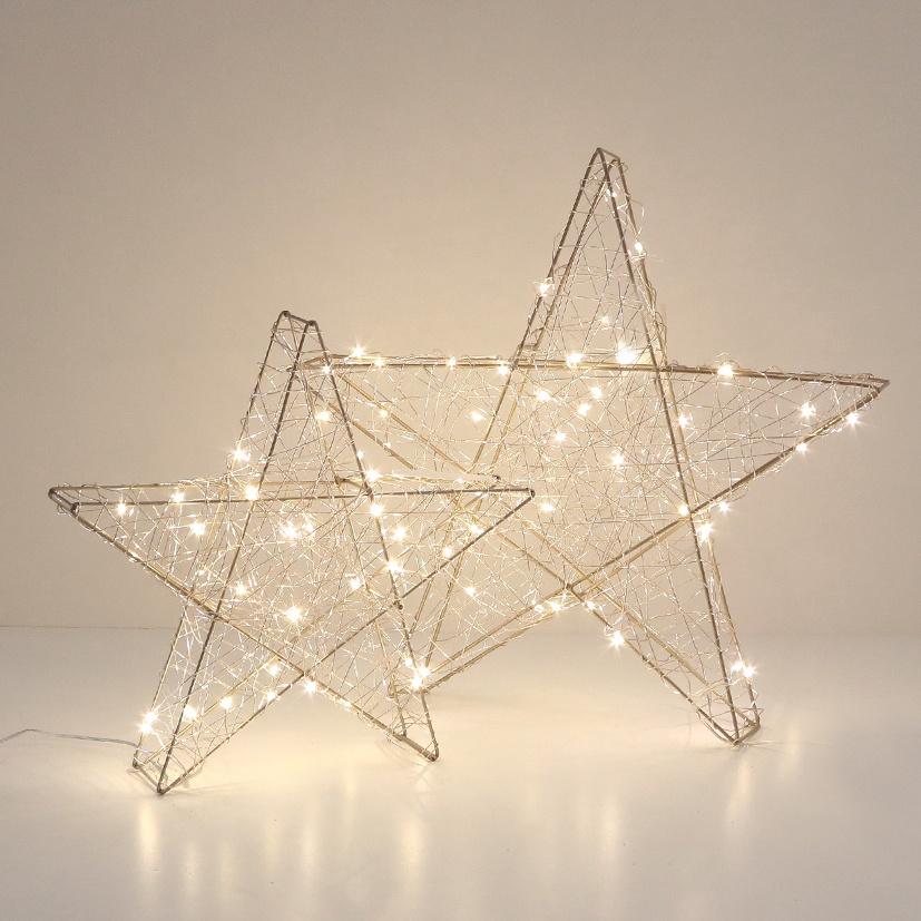 Lichtdekoration Stern gold 40 LED-Lichter 40 cm