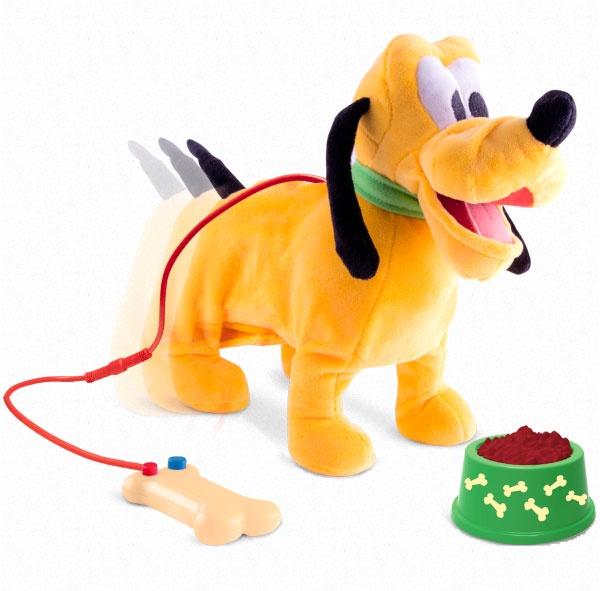 Laufender Pluto Hund mit Leine