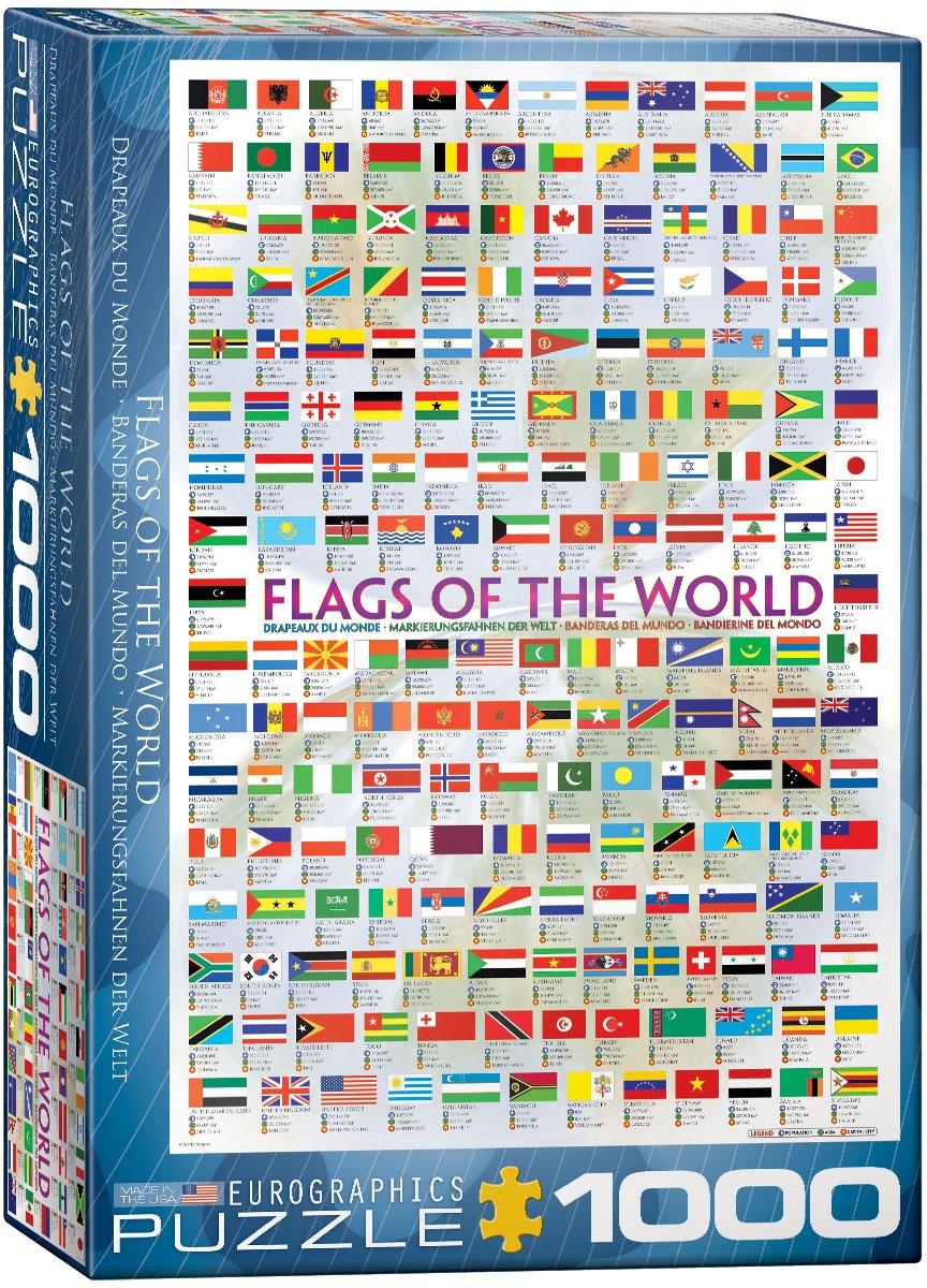 Puzzle Markierungsfahnen der Welt 1000 Teile