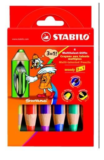 Stabilo Woody Farbstift 6 Stück Packung