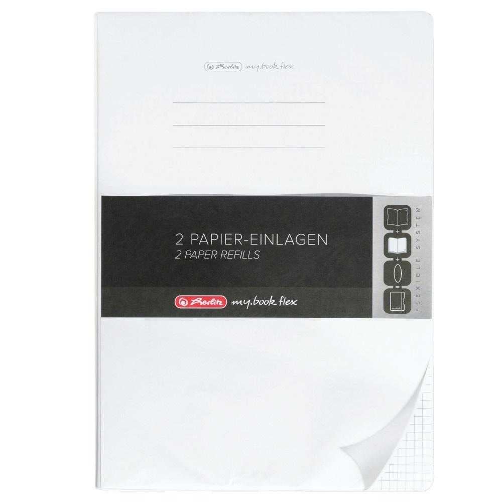 Herlitz Papiereinlagen A4 Refill flex kariert