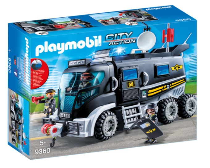 Playmobil 9360 City Action SEK-Truck mit Licht u. Sound