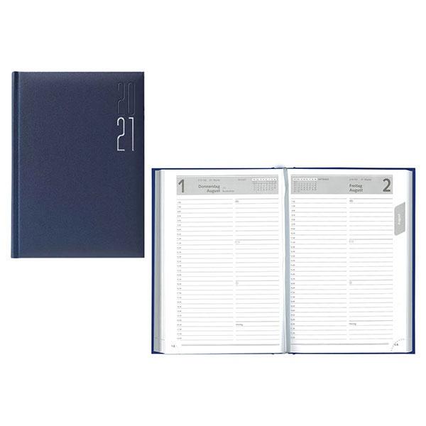 Idena Buchkalender (Kalender) A5 Matra blau 2021