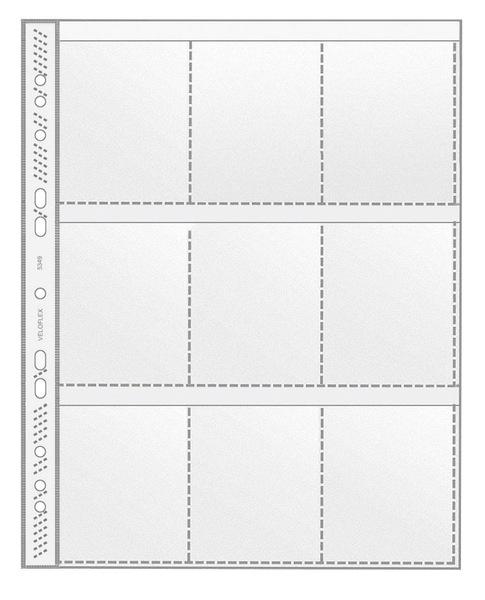 Sammelhüllen A4 9 Taschen Veloflex