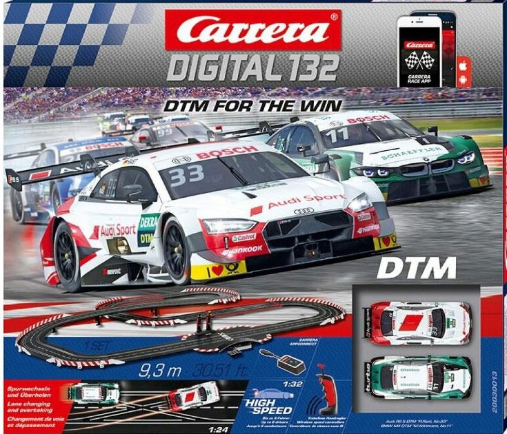Carrera Digital 132 Autorennbahn DTM For the Win 30013