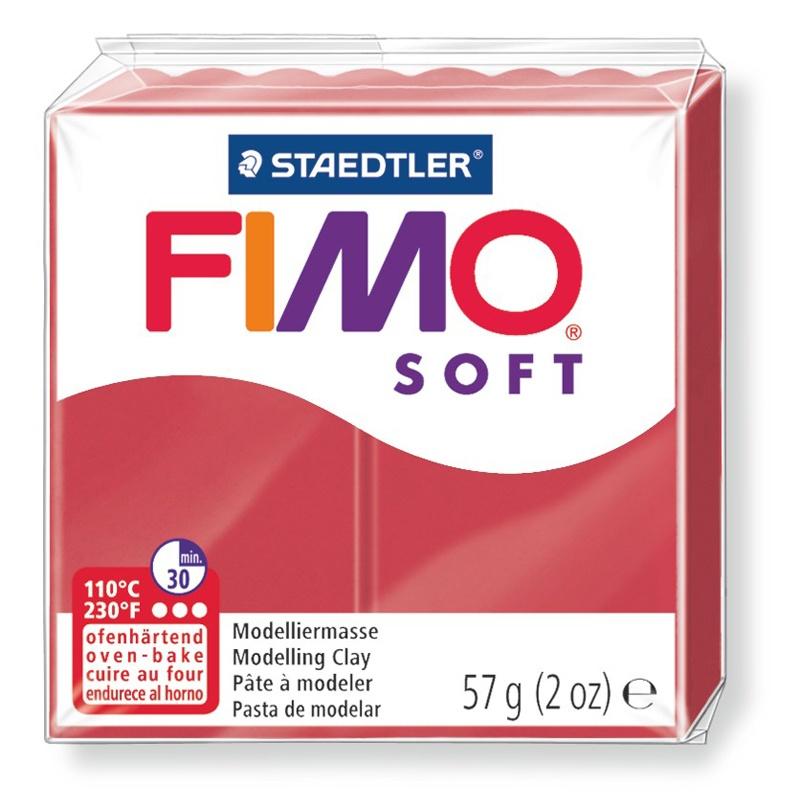 Staedtler Modelliermasse Fimo soft 57 g kirschrot
