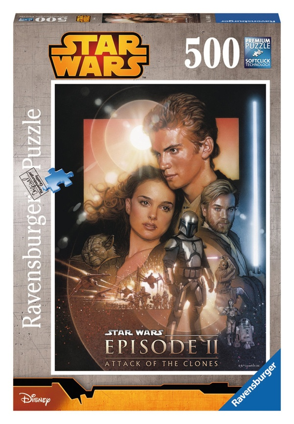 Ravensburger Puzzle Star Wars Angriff der Klonkrieger 500 T
