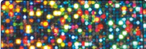 Holographische Folie 40 cm x 5 m Dots silber selbstklebend
