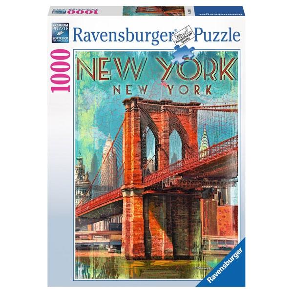 Ravensbuger Puzzle Retro New York 1000 Teile