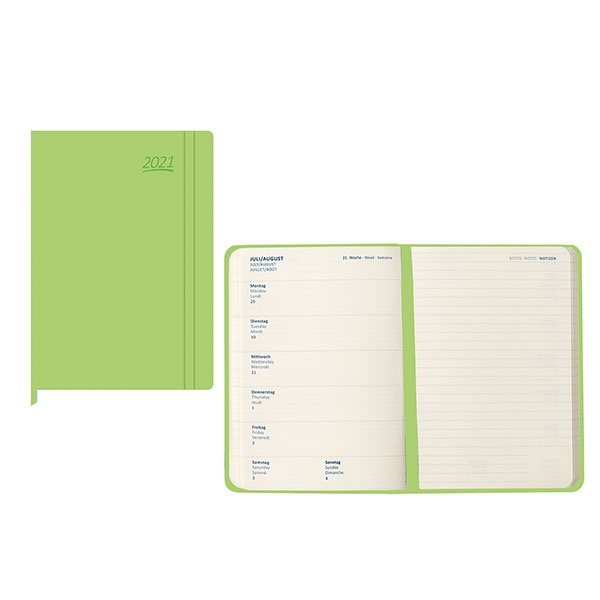 Idena Agenda (Kalender) 2021 A5 hellgrün