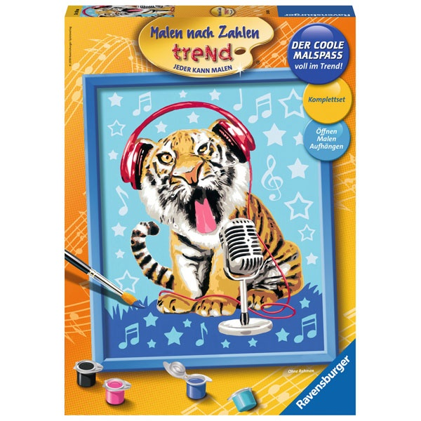Ravensburger Malen nach Zahlen Singing Tiger