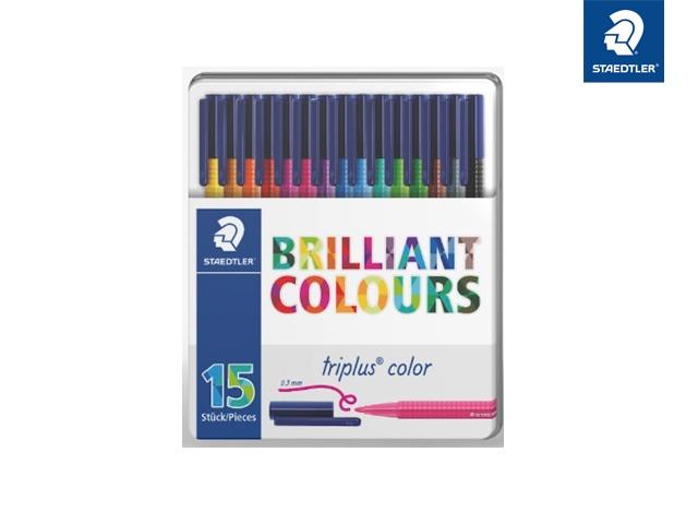 Staedtler Fasermaler triplus Brilliant Colours 15 Stück