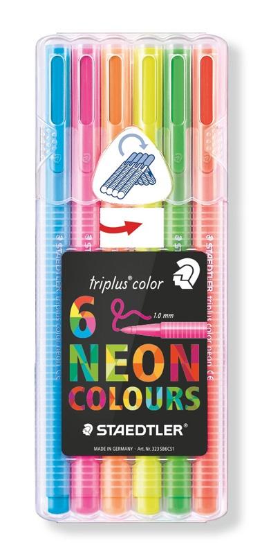 Staedtler Fasermaler triplus color neon Farben 6 Stück Packu