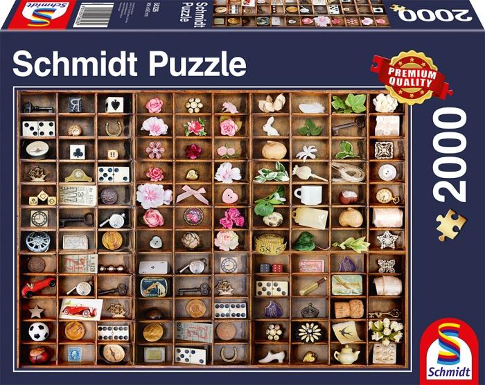 Schmidt Spiele Puzzle Schätze im Setzkasten 2000 Teile