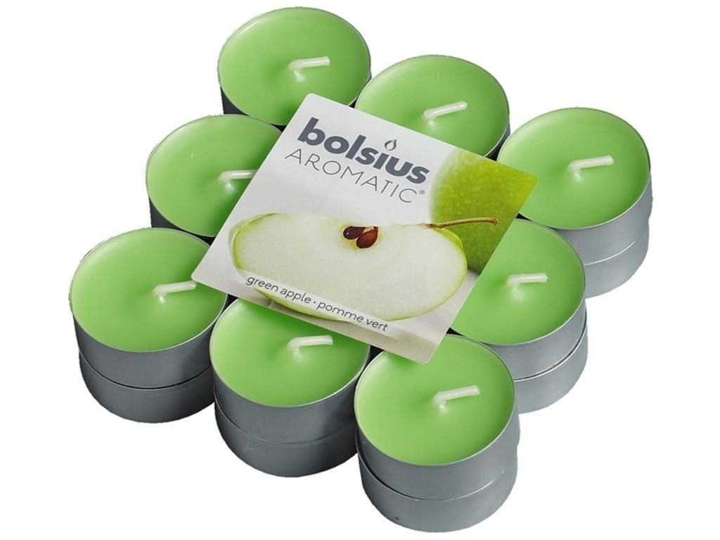 Bolsius Duft-Teelichter 18 Stück Packung grüner Apfel