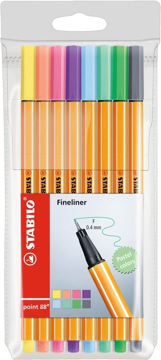 Fineliner point 88 8er Pastel Colors