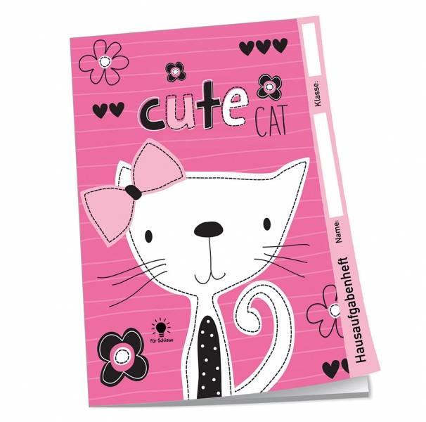 Hausaufgabenheft für Schlaue Cute Cat