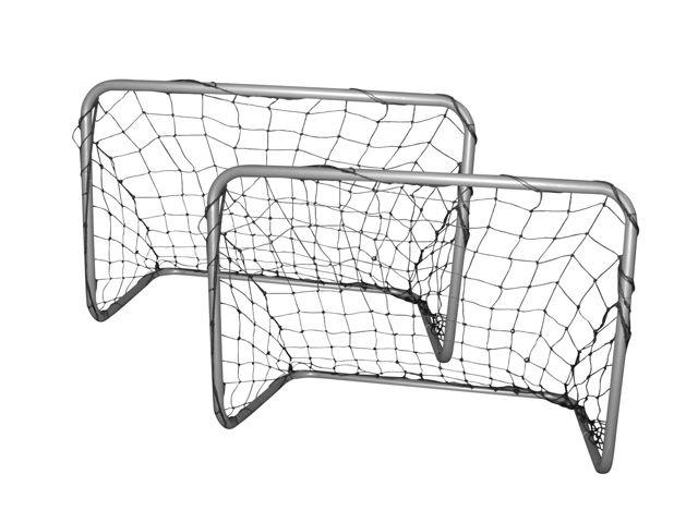 Fussballtor-Set 2x 78x56x45 cm