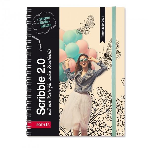 Roth Schülerkalender A5 Scribble Timer Happy Balloons
