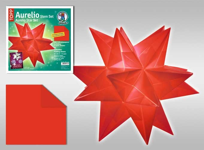 Faltblätter Aurelio Stern rot