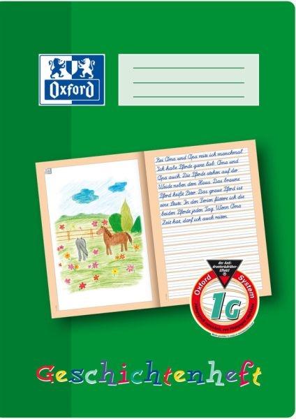 Oxford Schreiblernheft Geschichtenheft A4 Lineatur 1G